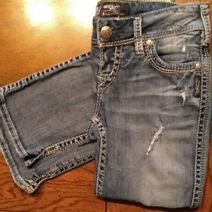 Silver McKenzie Flap jeans size 26/32